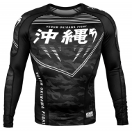 Venum Okinawa 2.0 Long Sleeve Rash Guard Black/White