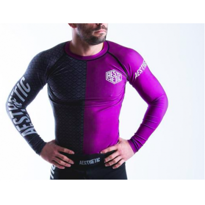 Aesthetic Ranked Rash Guard Purple