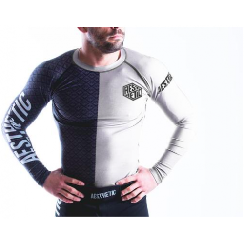 Image of Aesthetic Ranked Rash Guard White