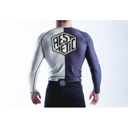 Aesthetic Ranked Rash Guard White