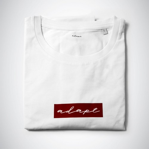 Image of Adapt burgundy print T#001