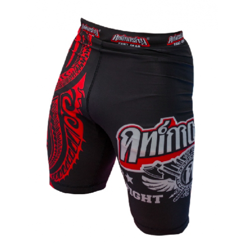 "Image of ANIMOSITY ""TRIBAL2"" COMPRESSION SHORTS - BLACK"