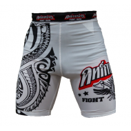 "ANIMOSITY ""TRIBAL2"" COMPRESSION SHORTS - WHITE"