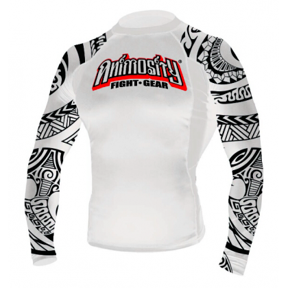 "ANIMOSITY ""TRIBAL2"" RASH GUARD - WHITE"