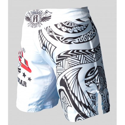"ANIMOSITY ""TRIBAL2"" MIXED MARTIAL ARTS SHORTS - WHITE"