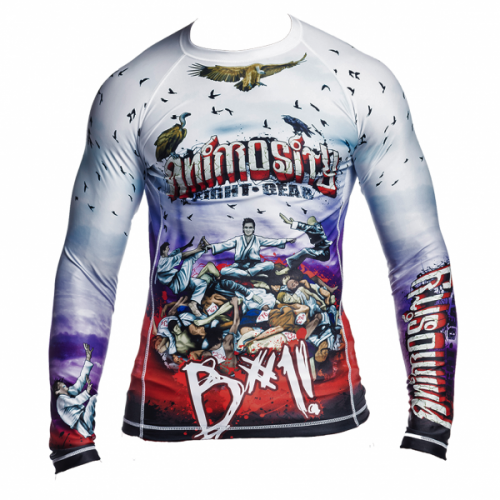 Image of B#1! RASH GUARD - FULL COLOUR