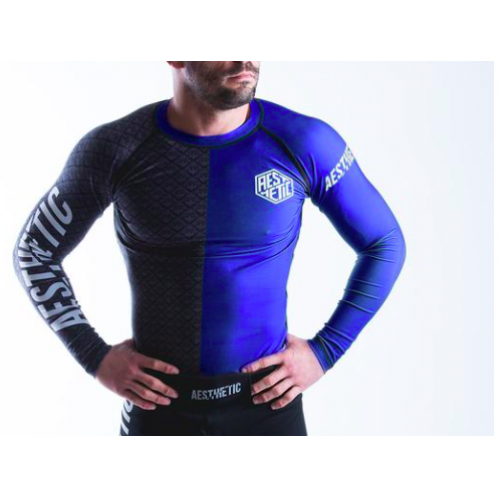 Image of Aesthetic Ranked Rash Guard Blue