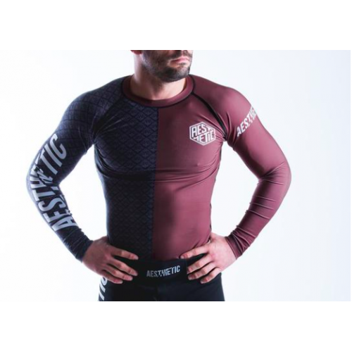Image of Aesthetic Ranked Rash Guard Brown