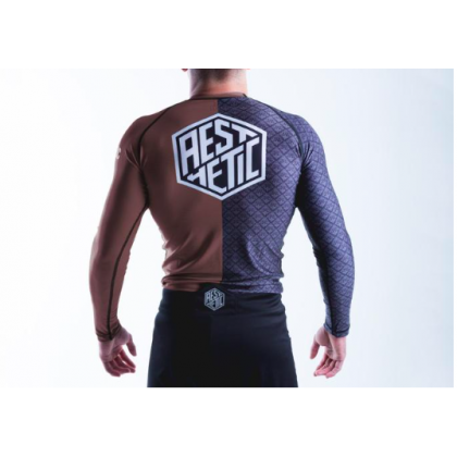 Aesthetic Ranked Rash Guard Brown