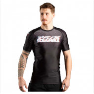 Scramble Glitch Short Sleeved Rashguard Black/White