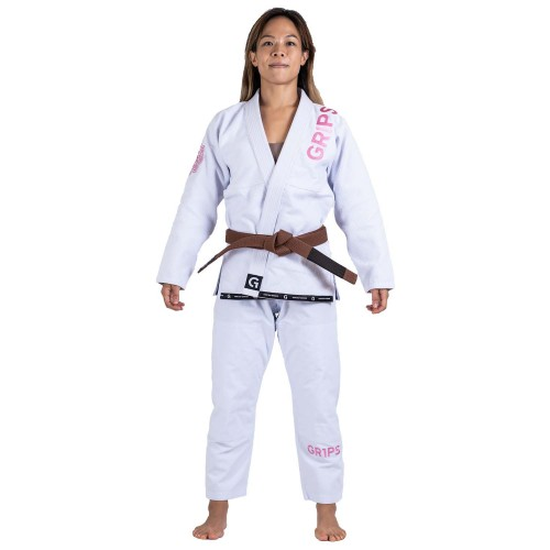 Image of Grips Primero Competition Woman Edition BJJ Gi White