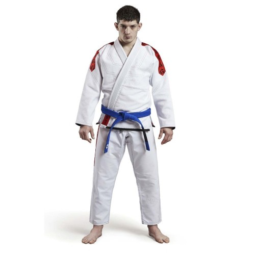 Image of GR1PS CLASSIC BJJ GI WHITE/RED