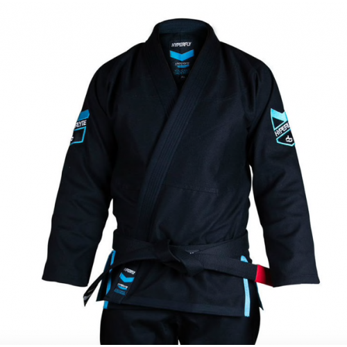 Image of Hyperfly Hyperlyte BJJ Gi Black/Ice Blue