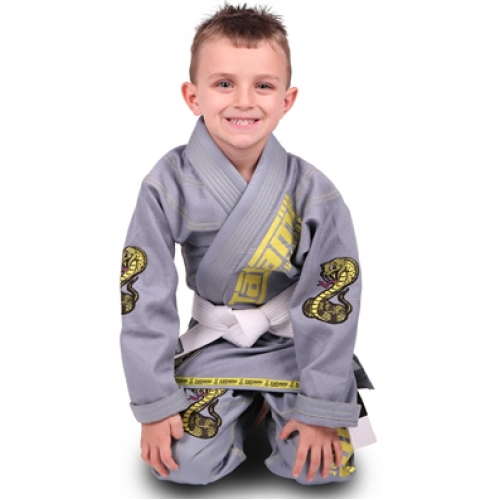 Image of Tatami Meerkatsu Kids Animal Gi - Grey