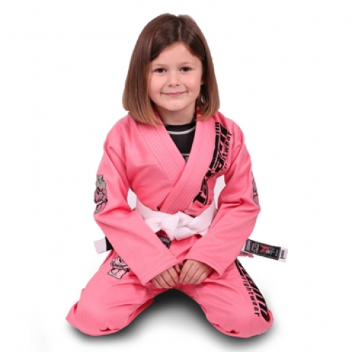 Image of Tatami Meerkatsu Kids Animal Gi - Pink