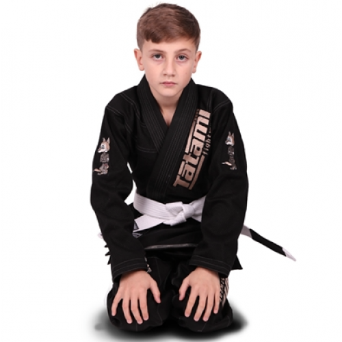 Image of Tatami Meerkatsu Kids Animal Gi - Black
