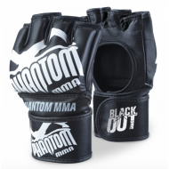 PHANTOM BLACKOUT PU ADULT MMA FIGHT GLOVES BLACK/WHITE
