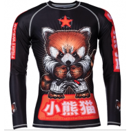 Kids Meerkatsu Red Panda Rash Guard