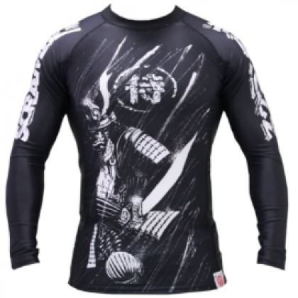 SCRAMBLE SHADOWS COMPRESSION MENS RASHGUARD BLACK