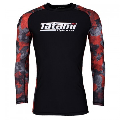 Tatami Renegade Red Camo Long Sleeve Rash Guard