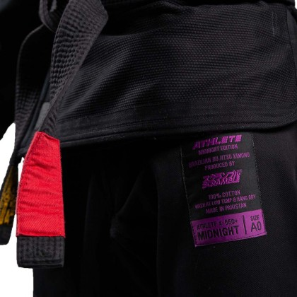 Scramble Athlete V4 550 Midnight Edition BJJ Gi Black