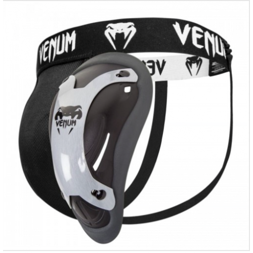 Image of VENUM COMPETITOR MENS GROIN GUARD BLACK/SILVER