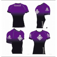 Grapple Kings IBJJF short sleeve rank rashguard purple