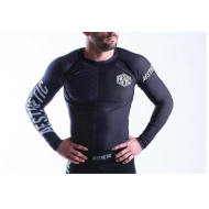 Aesthetic Ranked Rash Guard - Black