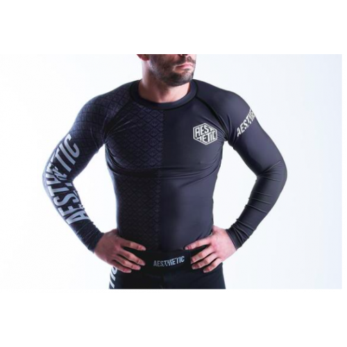 Image of Aesthetic Ranked Rash Guard - Black