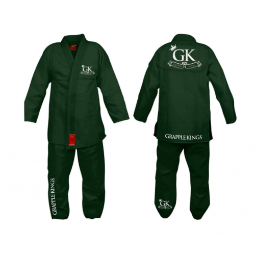 Image of Grapple Kings Green BJJ Kimono