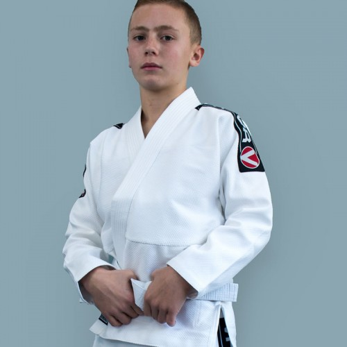 Image of Valor Kids Bravura BJJ GI White