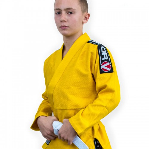 Image of Valor Kids Bravura BJJ GI Yellow