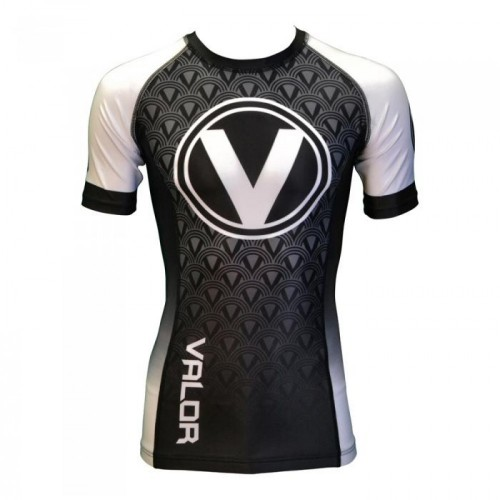 Image of Valor IBJJF Short Sleeve Rank Rash Guard White