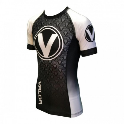 Valor IBJJF Short Sleeve Rank Rash Guard White