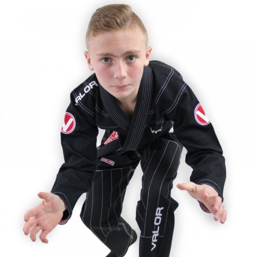 Image of Valor Kids Victory 2.0 Premium Lightweight BJJ GI Black