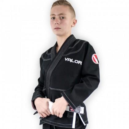 Valor Kids Victory 2.0 Premium Lightweight BJJ GI Black