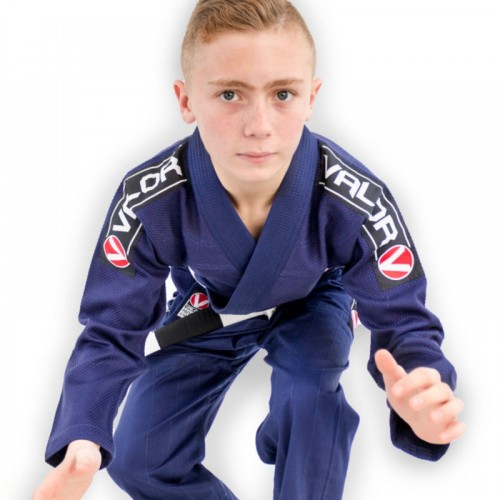 Image of Valor Bravura Kids BJJ Gi Navy