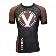 Valor IBJJF Short Sleeve Rank Rash Guard Brown