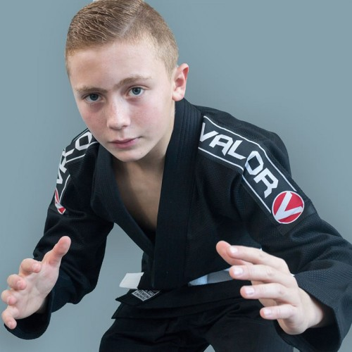 Image of Valor Kids Bravura BJJ GI Black