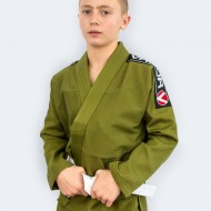 Valor Kids Bravura BJJ GI Green