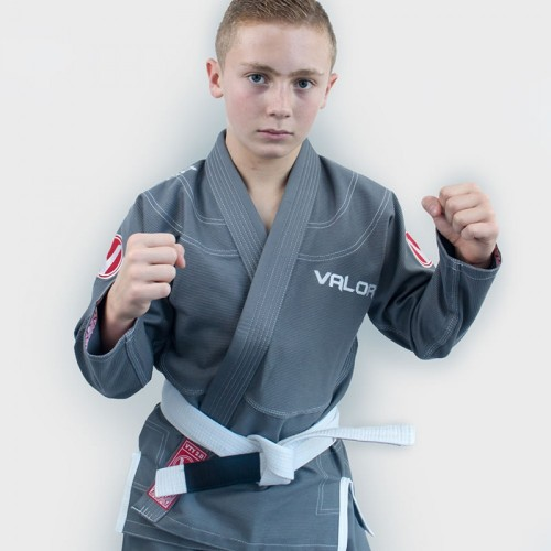 Image of Valor Kids Victory 2.0 Premium Lightweight BJJ GI Grey
