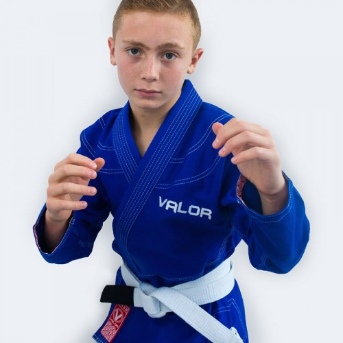 Image of Valor Kids Victory 2.0 Premium Lightweight BJJ GI Blue