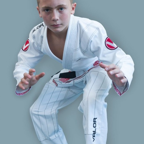 Image of Valor Kids Victory 2.0 Premium Lightweight BJJ GI White