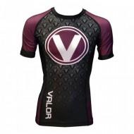 Valor IBJJF Short Sleeve Rank Rash Guard Purple