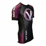 Valor IBJJF Short Sleeve Rank Rash Guard Purple