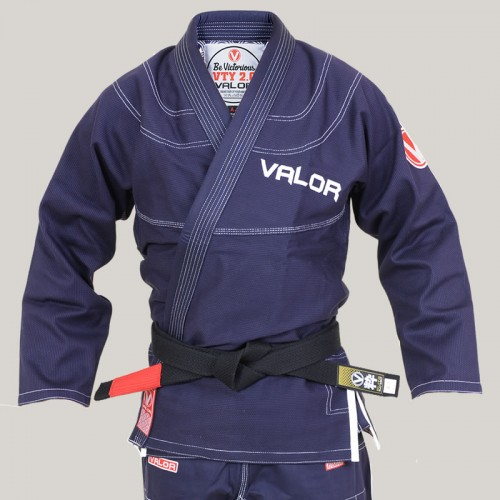 Image of Kids Valor Victory 2.0 Premium Lightweight BJJ GI Navy