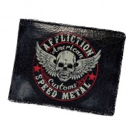 AFFLICTION SPEED METAL WALLET- BLACK