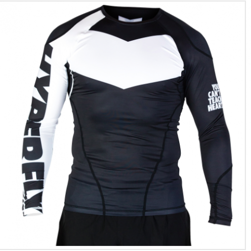 Image of HYPERFLY PROCOMP LONG SLEEVED RASH GUARD BLACK