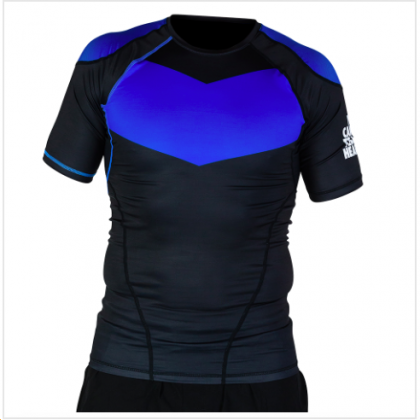 HYPERFLY PROCOMP SUPREME SHORT SLEEVE RASH GUARD BLUE