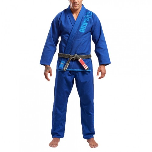Image of GRIPS ATHLETICS THE ITALIAN BJJ GI BLUE